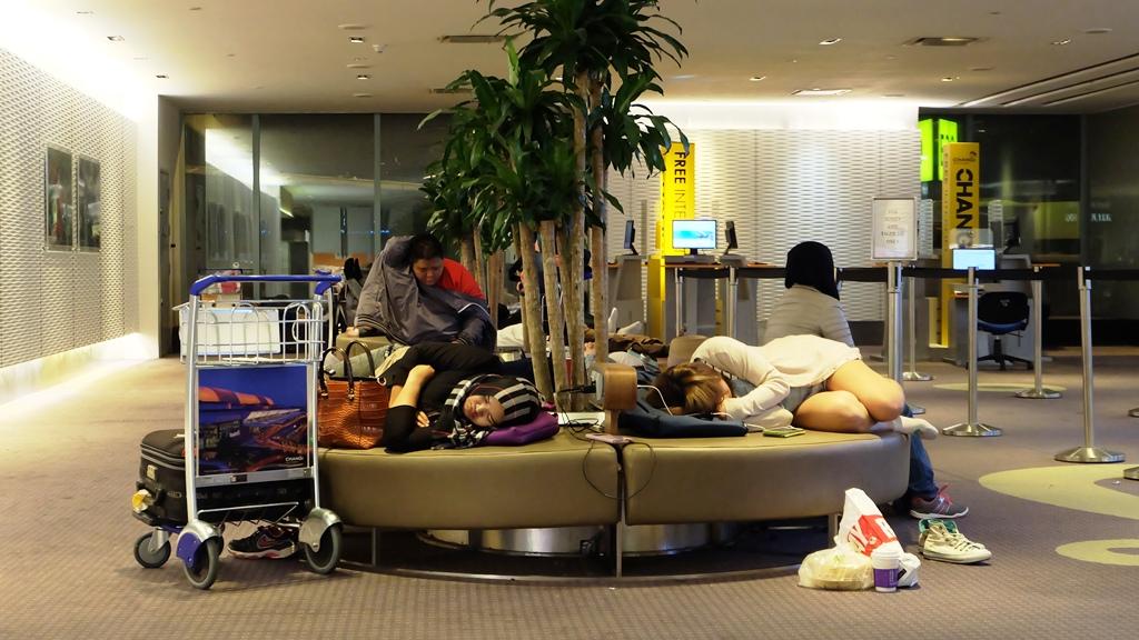 Penumpang yang menginap di Changi Airport