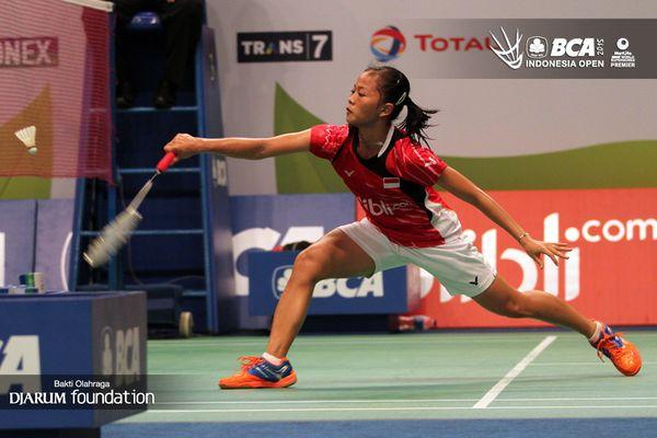 Fitriani, salah satu atlet tunggal putri unggulan Indonesia