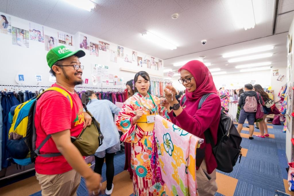 Memilih kimono perempuan